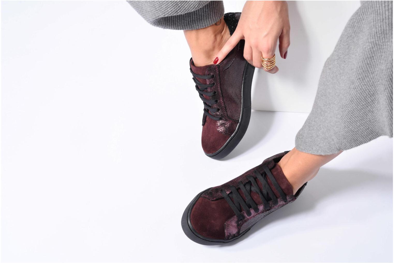 Sneakers Georgia Rose Cemoi Bordeaux onder