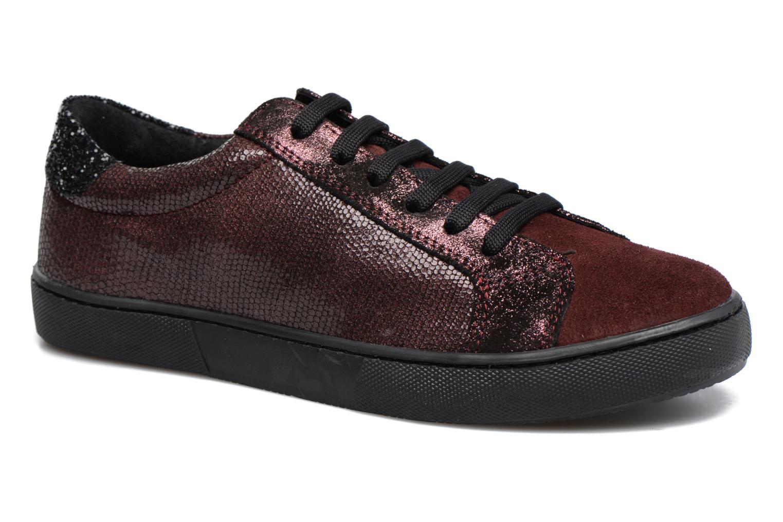 Sneakers Georgia Rose Cemoi Bordeaux detaljeret billede af skoene