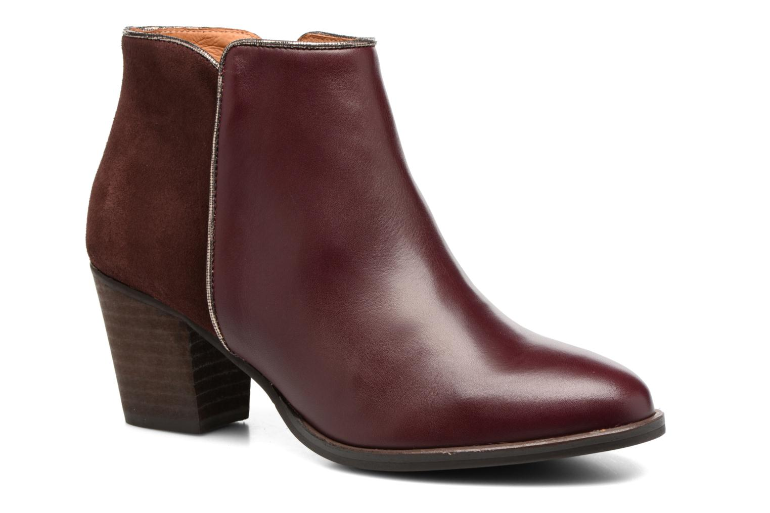 Ankle boots Georgia Rose Catalon Burgundy detailed view/ Pair view