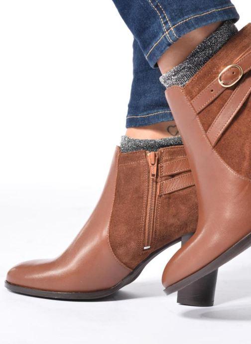 Bottines et boots Georgia Rose Cefema Noir vue bas / vue portée sac