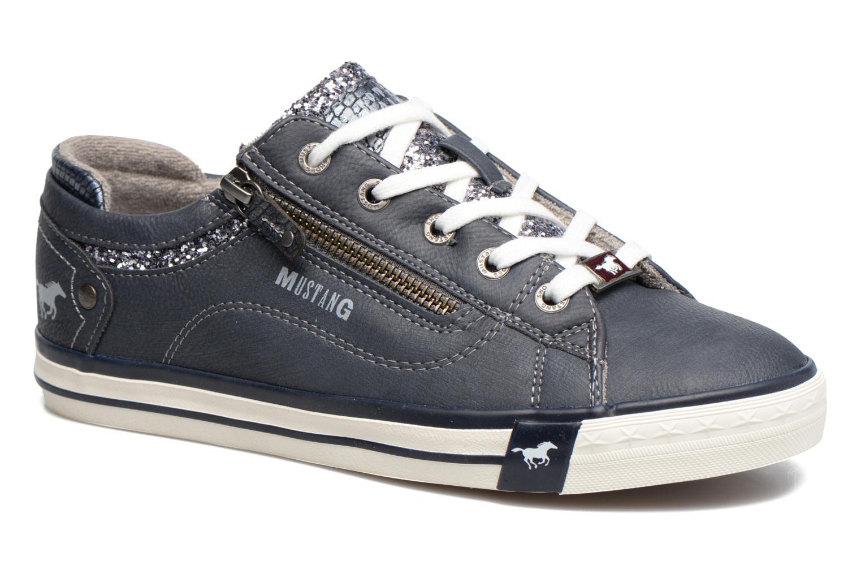 Baskets Mustang shoes Jefi Bleu vue détail/paire