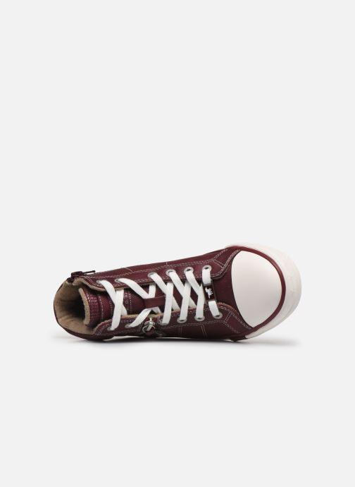Baskets Mustang shoes Eper Bordeaux vue gauche