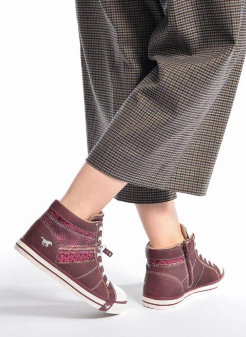 Baskets Mustang shoes Eper Gris vue bas / vue portée sac