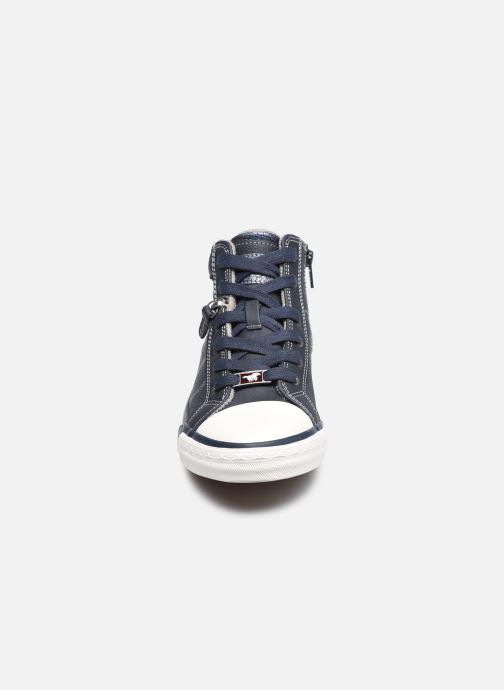 Sneaker Mustang shoes Eper blau schuhe getragen
