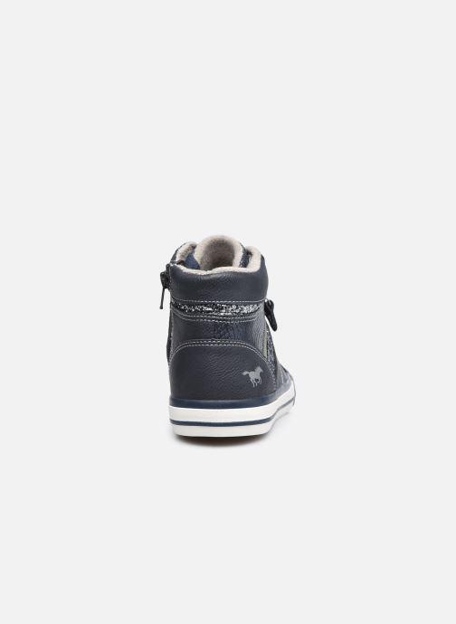 Sneaker Mustang shoes Eper blau ansicht von rechts