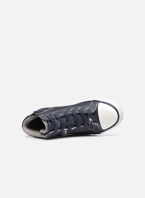 Sneaker Mustang shoes Eper blau ansicht von links