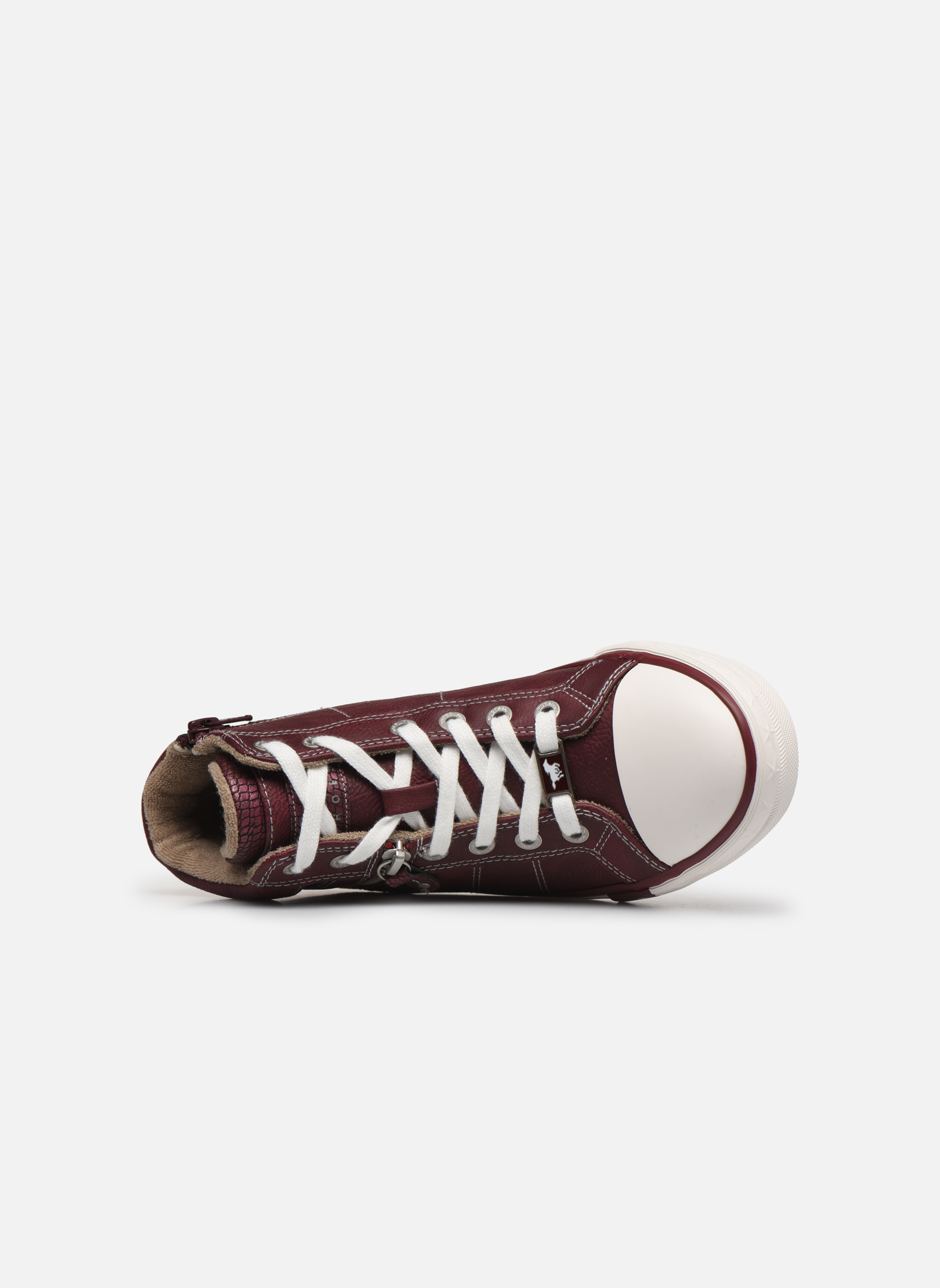 Trainers Mustang shoes Eper Burgundy view from the left