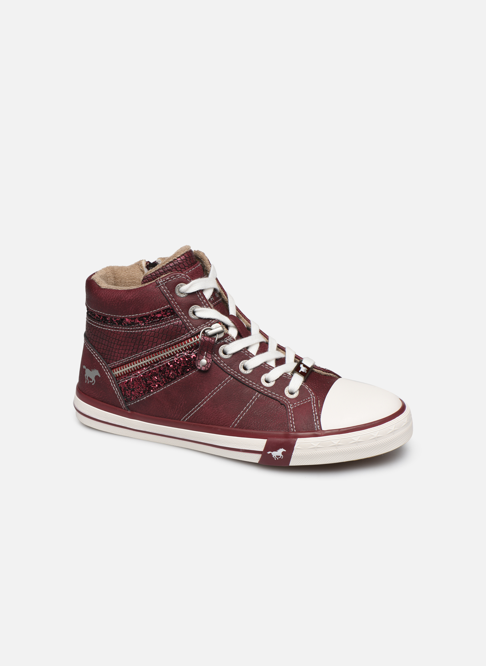 Trainers Mustang shoes Eper Burgundy detailed view/ Pair view