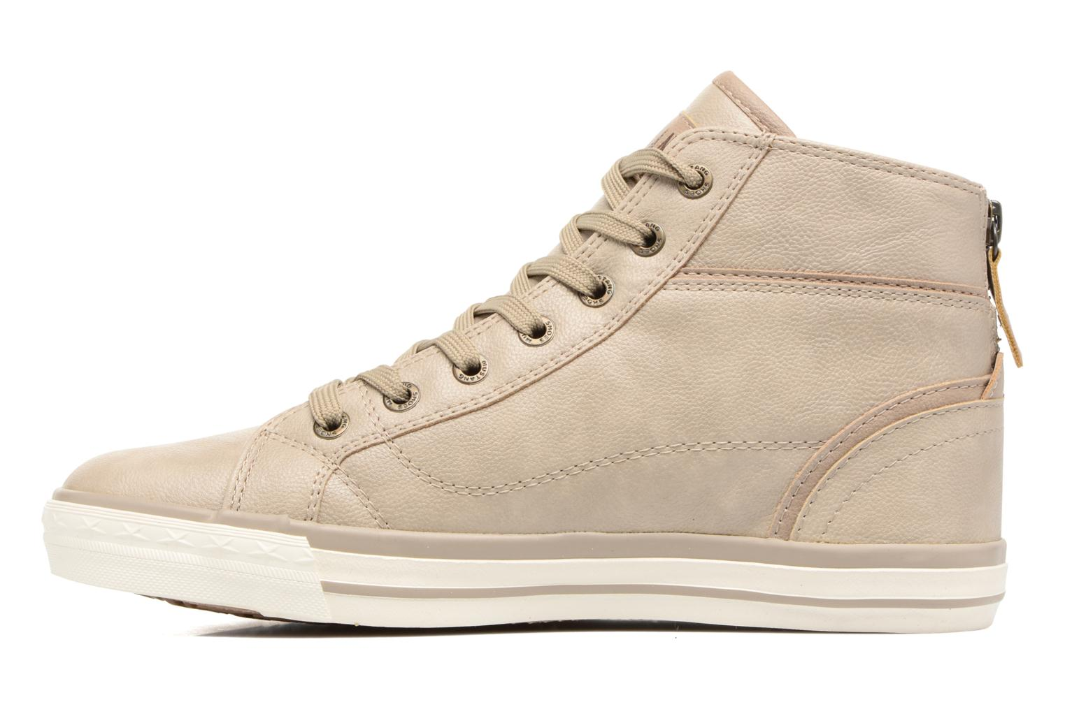 Baskets Mustang shoes Bala Beige vue face
