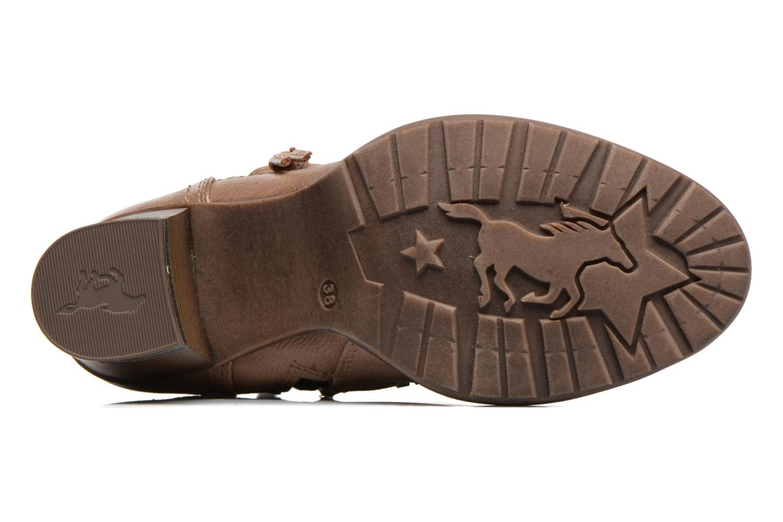 Bottes Mustang shoes Taia Marron vue haut