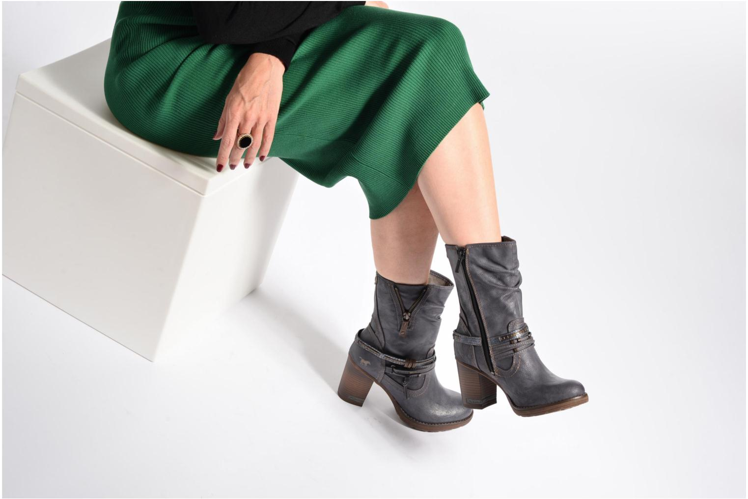 Boots & wellies Mustang shoes Taia Blue view from underneath / model view