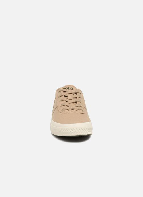 Baskets Polo Ralph Lauren Tyrian Beige vue portées chaussures