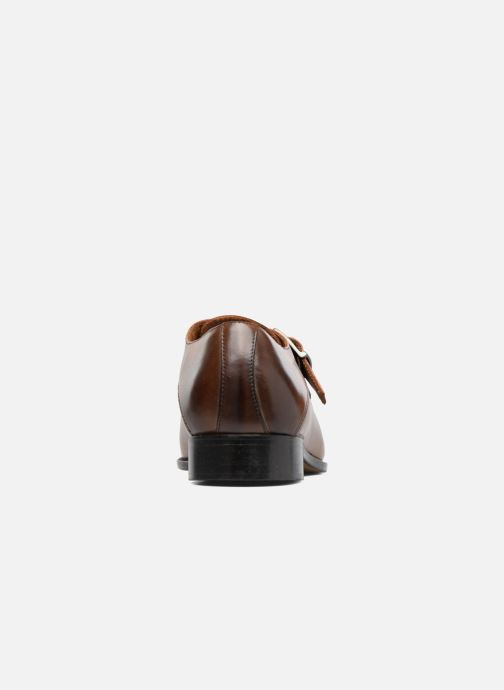 Zapato con hebilla Marvin&Co Newbattle Marrón vista lateral derecha