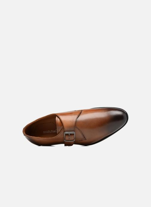 Mocassins Marvin&Co Newbattle Marron vue gauche