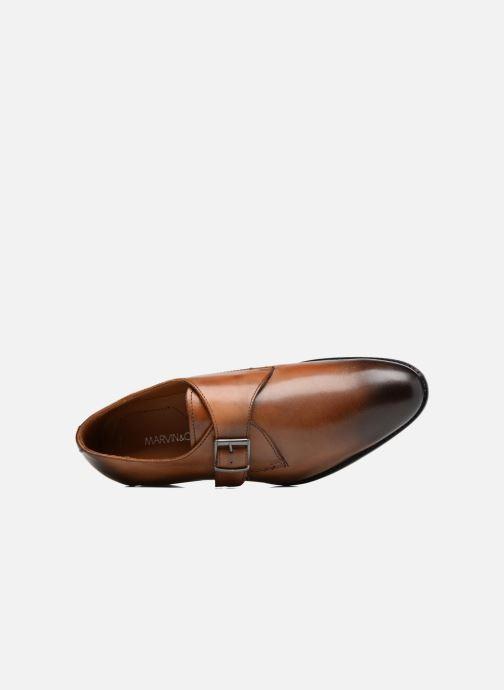 Zapato con hebilla Marvin&Co Newbattle Marrón vista lateral izquierda