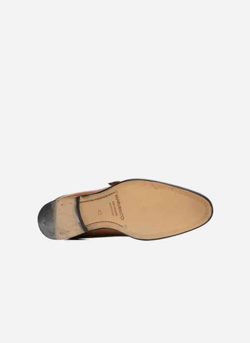 Mocassins Marvin&Co Newbattle Marron vue haut