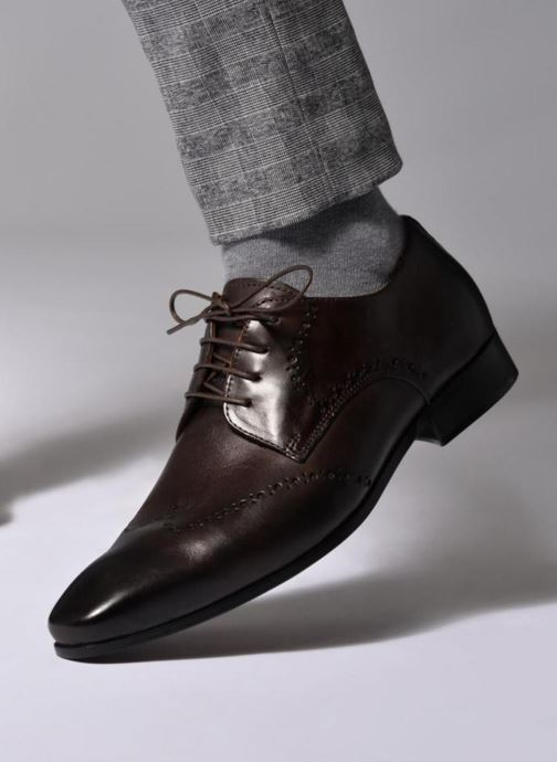 Lace-up shoes Marvin&co Nottage Brown view from underneath / model view