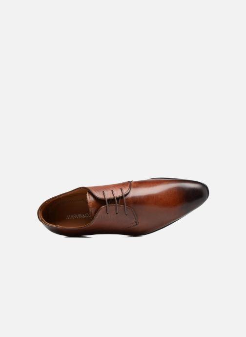 Chaussures à lacets Marvin&Co Northam Marron vue gauche