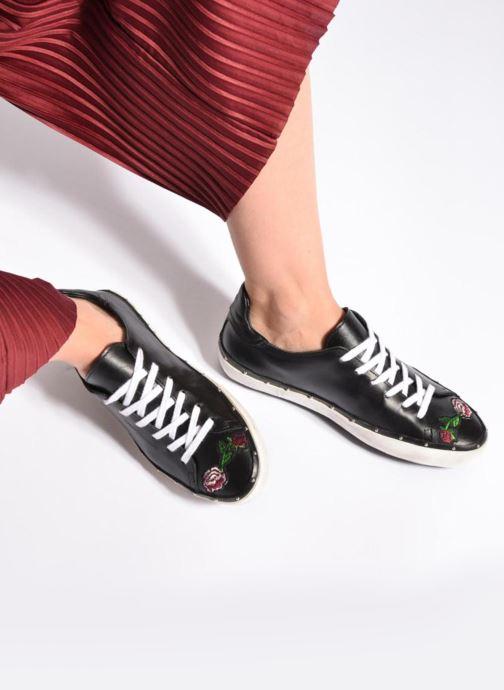 Sneakers Rebecca Minkoff Michell Flower Nappa Sort se forneden