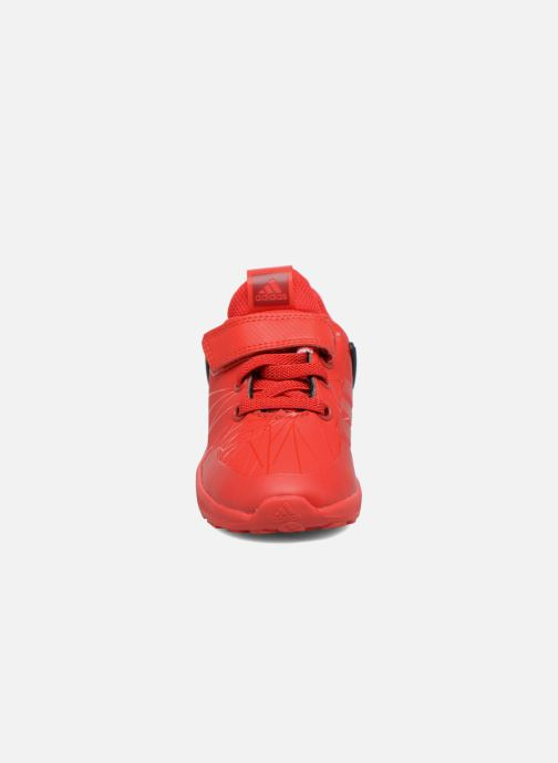 Baskets adidas performance Spider-Man Rapidarun I Rouge vue portées chaussures