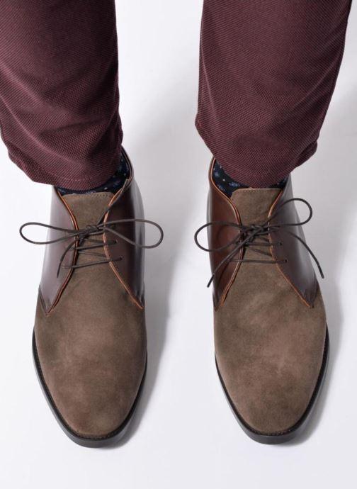 Zapatos con cordones Mr SARENZA Testu Azul vista de abajo