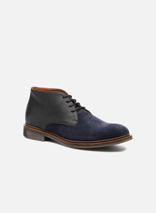Zapatos con cordones Mr SARENZA Testu Azul vista lateral derecha