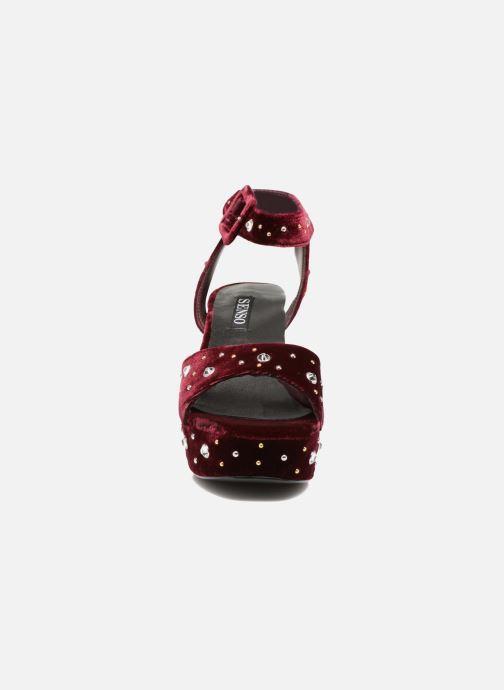 Sandales et nu-pieds SENSO Idris Bordeaux vue portées chaussures