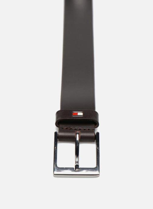 Ceintures Tommy Hilfiger Layton Leather Belt 35mm Marron vue portées chaussures