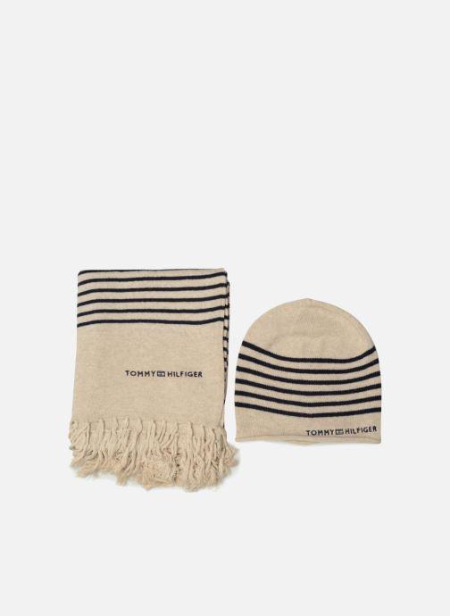 Schal Tommy Hilfiger Tommy Stripe Giftpack beige detaillierte ansicht/modell