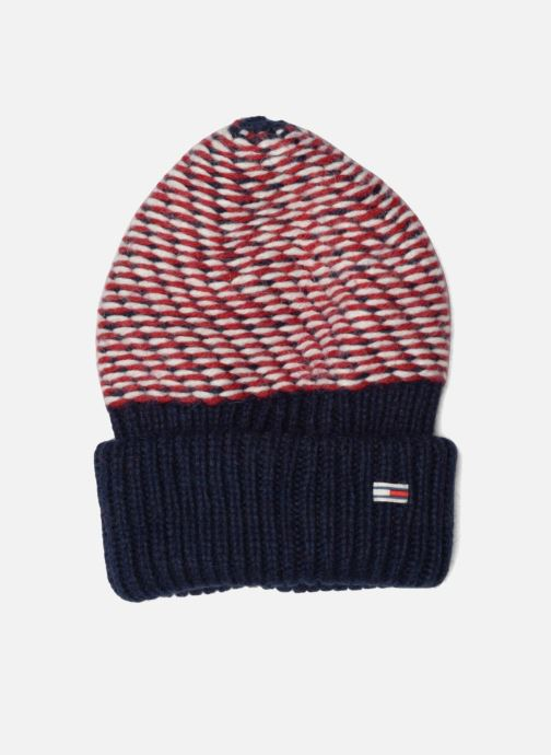 Muts Tommy Hilfiger Chunky Beanie Blauw detail