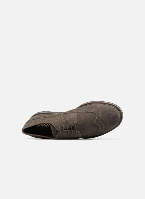 Lace-up shoes Geox U Uvet A U722QA Brown view from the left