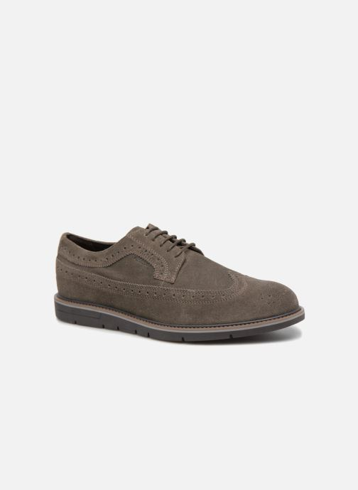 Lace-up shoes Geox U Uvet A U722QA Brown detailed view/ Pair view