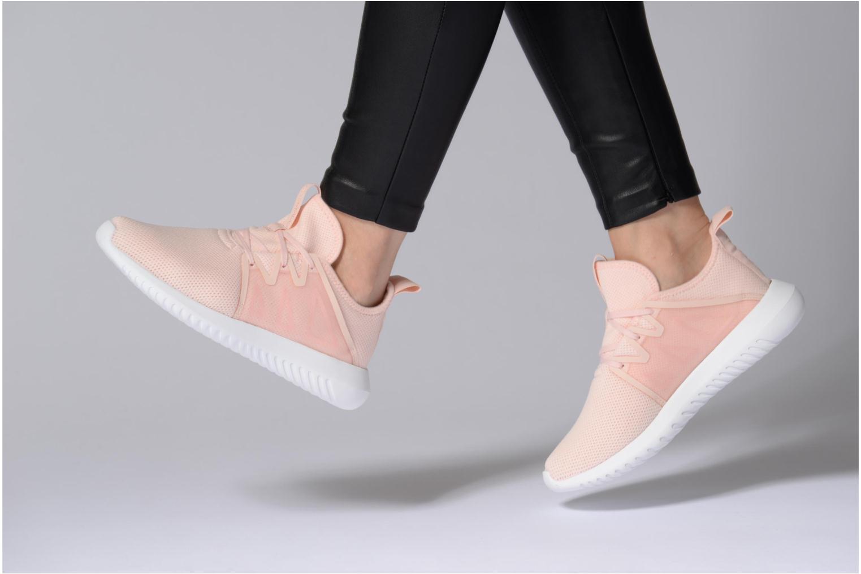 Baskets Adidas Originals Tubular Viral2 W Blanc vue bas / vue portée sac