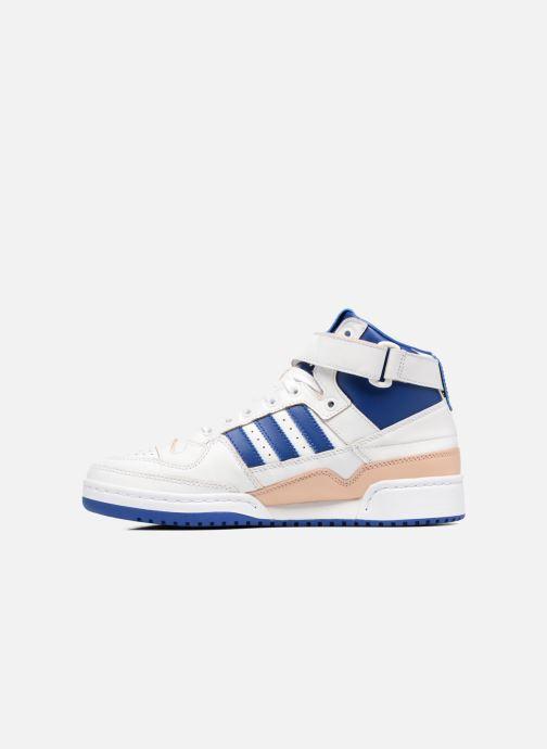 Sneaker Adidas Originals Forum Mid (Wrap) weiß ansicht von vorne