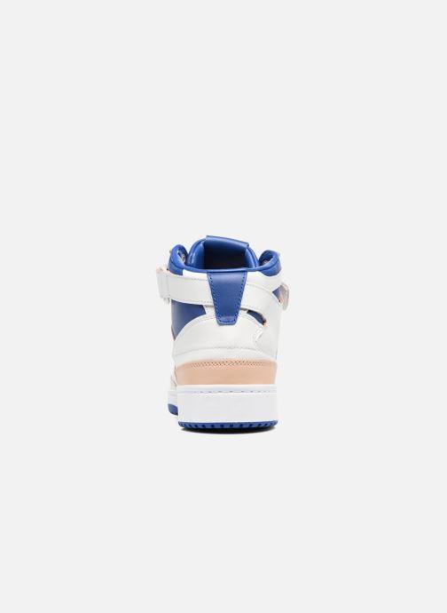 Baskets adidas originals Forum Mid (Wrap) Blanc vue droite