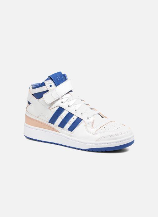 Baskets adidas originals Forum Mid (Wrap) Blanc vue détail/paire