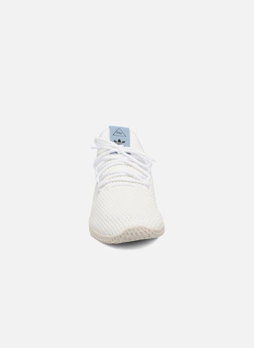 the best attitude 3dea8 44640 Baskets adidas originals Pharrell Williams Tennis Hu Blanc vue portées  chaussures