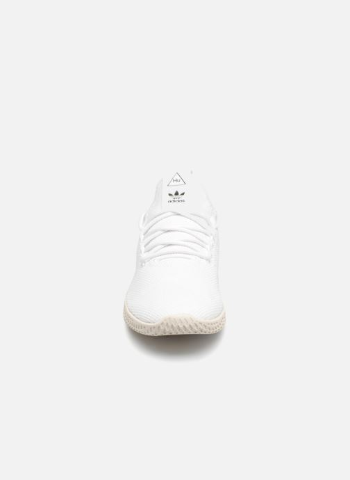 Deportivas adidas originals Pharrell Williams Tennis Hu Blanco vista del modelo