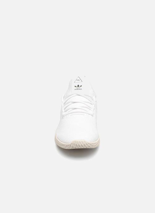 Deportivas adidas originals Pharrell Williams Tennis Hu Blanco vista del modelo