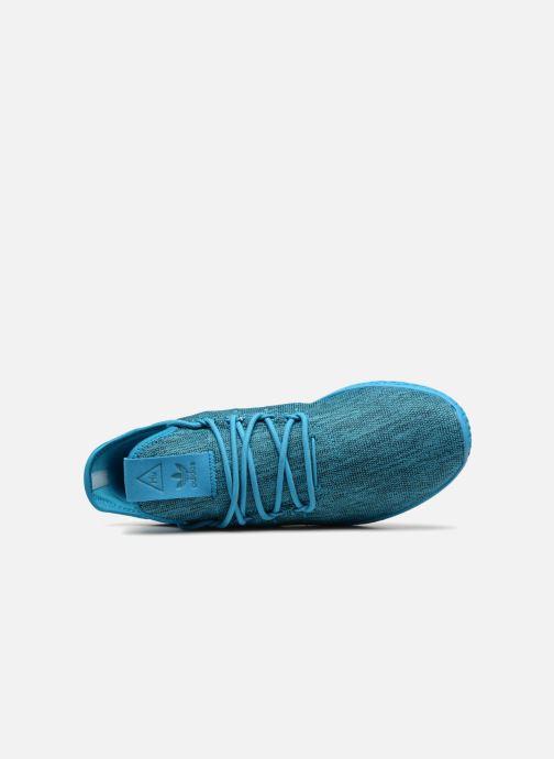 Sneaker adidas originals Pharrell Williams Tennis Hu blau ansicht von links