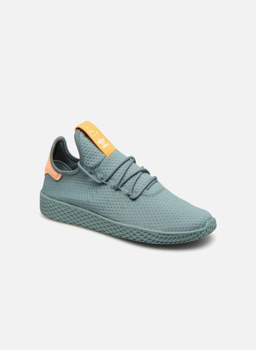 sneakers for cheap 522ec 6dc14 Baskets adidas originals Pharrell Williams Tennis Hu Vert vue détail paire