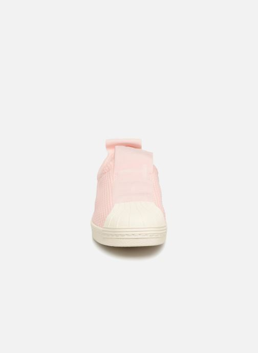 Trainers Adidas Originals Superstar Bw3S Slipon W Pink model view