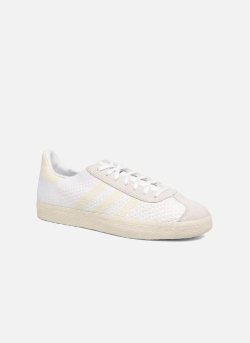 the latest 1413b 5b485 Baskets adidas originals Gazelle Pk Blanc vue détail paire