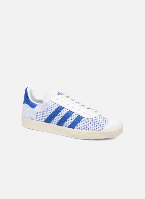 Baskets adidas originals Gazelle Pk Blanc vue détail/paire
