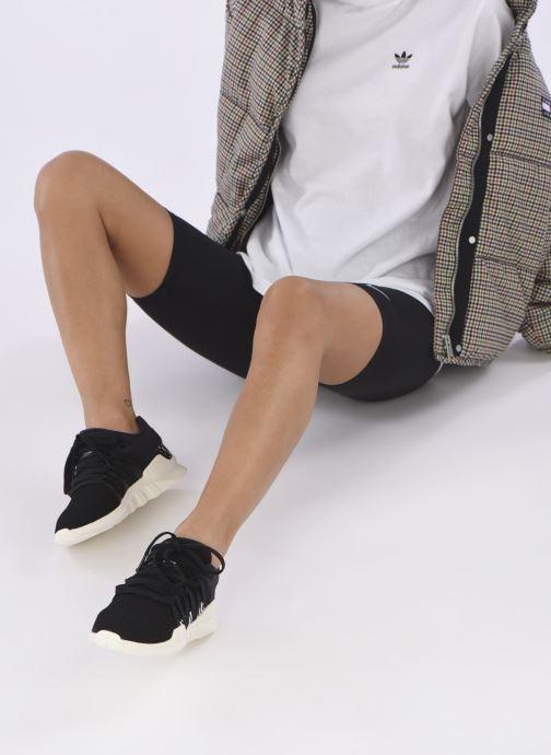 Baskets adidas originals Eqt Racing Adv W Noir vue bas / vue portée sac