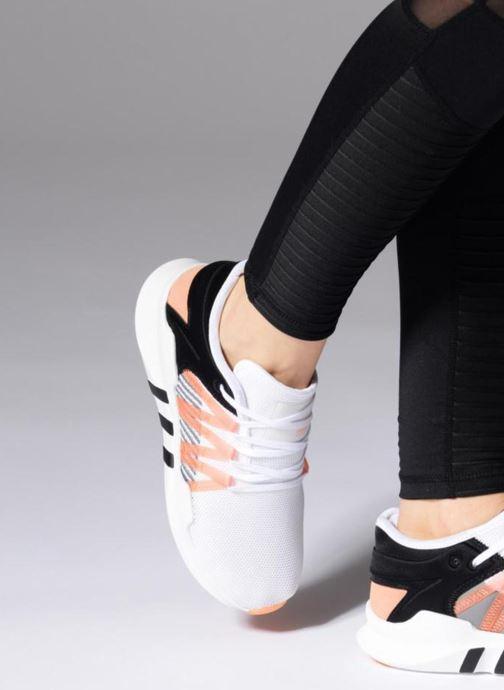 Baskets Adidas Originals Eqt Racing Adv W Blanc vue bas / vue portée sac
