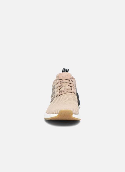Sneaker adidas originals Nmd_R2 beige schuhe getragen