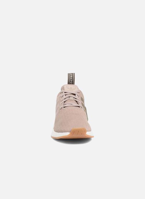 Sneaker Adidas Originals Nmd_R2 braun schuhe getragen