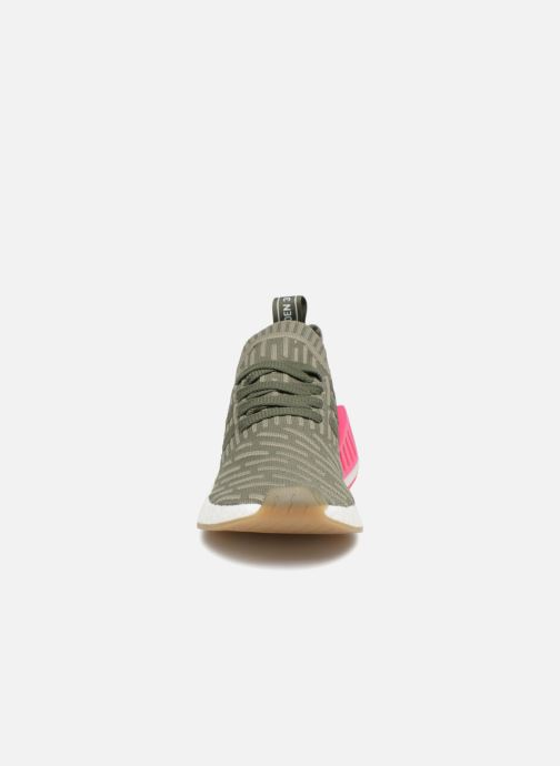 Trainers adidas originals Nmd_R2 Pk W Green model view