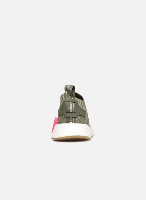 Trainers Adidas Originals Nmd_R2 Pk W Green view from the right